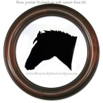 "Horse portrait by ""silhouettes by hand"""