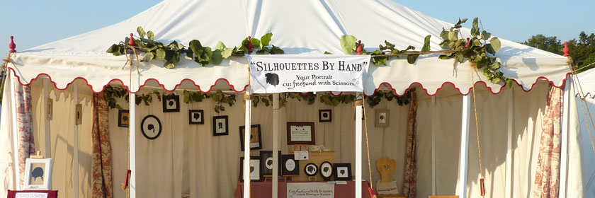 Silhouettes By Hand event tent
