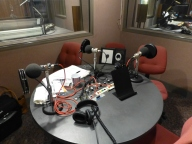 Radio studio table